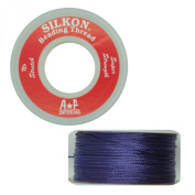 Silkon Bead Stringing Cord Size #2 Amethyst Purple - 20 yard spool. Made in Switzerland