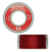 Silkon Bead Stringing Cord Size #2 Garnet Red - 20 yard spool. Made in Switzerland