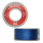 Silkon Bead Stringing Cord Size #2 Lapis Royal Blue - 20 yard spool. Made in Switzerland