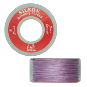 Silkon Bead Stringing Cord Size #2 Light Amethyst Lilac - 20 yard spool. Made in Switzerland