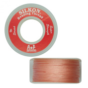 Silkon Bead Stringing Cord Size #2 Rose Quartz Pink - 20 yard spool. Made in Switzerland