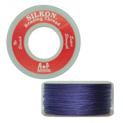Silkon Bead Stringing Cord Size #3 Amethyst Purple - 20 yard spool. Made in Switzerland