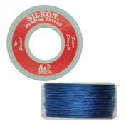 Silkon Bead Stringing Cord Size #3 Lapis Royal Blue - 20 yard spool. Made in Switzerland