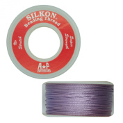 Silkon Bead Stringing Cord Size #3 Light Amethyst Lilac - 20 yard spool. Made in Switzerland