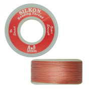 Silkon Bead Stringing Cord Size #3 Rose Quartz Pink - 20 yard spool. Made in Switzerland