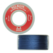 Silkon Bead Stringing Cord Size #3 Sodalite Navy Blue - 20 yard spool. Made in Switzerland