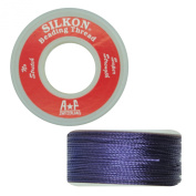 Silkon Bead Stringing Cord Size #5 Amethyst Purple - 20 yard spool. Made in Switzerland