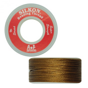 Silkon Bead Stringing Cord Size #5 Citrine Gold - 20 yard spool. Made in Switzerland
