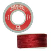 Silkon Bead Stringing Cord Size #5 Garnet Red - 20 yard spool. Made in Switzerland