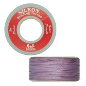 Silkon Bead Stringing Cord Size #5 Light Amethyst Lilac - 20 yard spool. Made in Switzerland