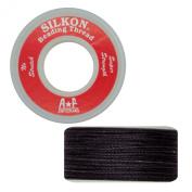 Silkon Bead Stringing Cord Size #5 Onyx Black - 20 yard spool. Made in Switzerland
