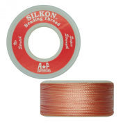 Silkon Bead Stringing Cord Size #5 Rose Quartz Pink - 20 yard spool. Made in Switzerland