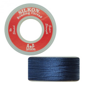 Silkon Bead Stringing Cord Size #5 Sodalite Navy Blue - 20 yard spool. Made in Switzerland