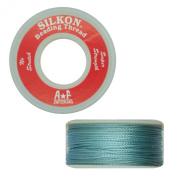 Silkon Bead Stringing Cord Size #5 Turquoise Aqua Blue - 20 yard spool. Made in Switzerland