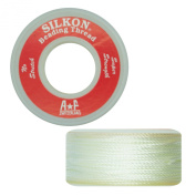 Silkon Bead Stringing Cord Size #6 White - 20 yard spool. Made in Switzerland