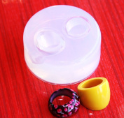 Clear-silicone rings Moulds 2pc, size yellow 8,colour 8.5 (B19).