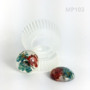 Alamould Moulds Clear Silicone Moulds for Creating a Set Of Two Cabochons for Earrings or Pendants