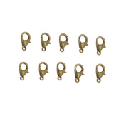 Yueton® Curved Lobster Clasps-100pcs 7x12mm Lobster Claw Clasps DIY Jewellery Fastener Hook, Necklace DIY Fasteners