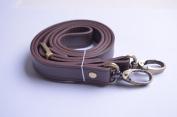 Wento 1pcs 110cm - 120cm Pu Dark Brown Leather Adjustable Bag Strap,soft Leather Shoulder Straps,replacement Cross Body Purse Straps,handbag Bag Wallet Straps