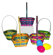 25cm Springtime Easter Mini Woven Basket Assortment-Includes 1; styles vary