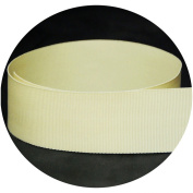 1.6cm Cream / Natural Solid Grosgrain Ribbon - 100 Yards - USA Made -