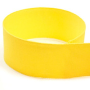 2.2cm Yellow Solid Grosgrain Ribbon - 100 Yards - USA Made -