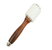 Annic Stainless Steel Leather Craft Hammer Nylon Carving Sew Tool with Wooden Handle for DIY
