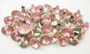 40Set 5mm Pink Synthetic Crystal Rhinestone RIVETS RV019