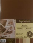 Recollections Nostalgia Cardstock Paper, 22cm X 28cm - 50 Sheets, 5 Colours