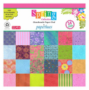 Paperhues Spring Blossom Collection 30cm x 30cm Pad, 24 Sheets. Decorative Specialty Handmade Origami Papers for Gift Wrap, Cards, Scrapbooking, Decor, Art and Craft Projects.