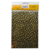Handmade Decorative Korean Han-Ji Mulberry Paper - 2 Designs - Gold Petal & Glitter Hexagon - 3 Sheets of Each - Size 8.3 x 5.9