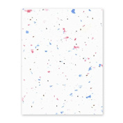 Grow-a-Note Plantable Seed Paper, 5 sheets, 33cm x 48cm , Speckled Red, White & Blue