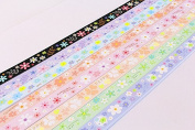 Origami Lucky Star Paper Strips Colourful Sweet Flower Printed- Pack of 120 Strips