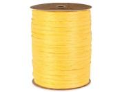 Matte Daffodil Yellow Raffia 100 yd (1 spool) - WRAPS-749DA