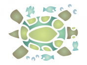 Turtle Stencil - (size 11cm w x 14cm h) Reusable Wall Stencils for Painting -Best Quality African Wall Art Décor Ideas - Use on Walls, Floors, Fabrics, Glass, Wood, Terracotta, and More...