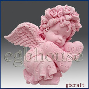 Valentine Angel Girl- Detail of High Relief Sculpture - Silicone Soap/polymer/clay/cold Porcelain Mould