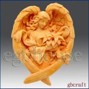 Angel of the Seasons- Winter - Detail of High Relief Sculpture - Silicone Soap/polymer/clay/cold Porcelain Mould