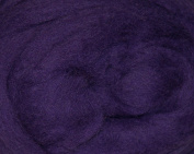 Corriedale Wool Roving One Ounce Blue and Purple Colours for Felting and Spinning