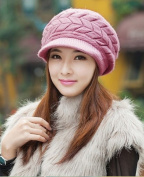 Fall Winter Beanies Knitted Hats Rabbit Fur Cap 8 Colours Snapback Cap Ladies Female Fashion Skullies Elegant Women Hats