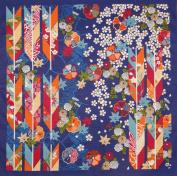 Furoshiki Wrapping Cloth Navy Arrows Motif Japanese Fabric 50cm