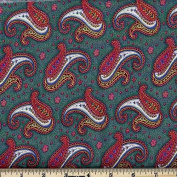 Quilting Fabric Paisley Dance Sage/By the yard