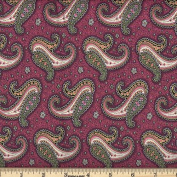 Quilting Fabric Paisley Dance Plum/By the yard