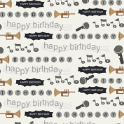 Instruments Theme Birthday Wrapping Paper - 1.8m Roll
