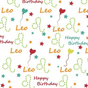 Leo Happy Birthday Wrapping Paper - 1.8m Roll