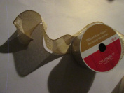 6.4cm . x 7.6m Metalic gold wired ribbon