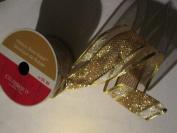 Wired 6.4cm . x 7.6m Gold glitter Designer Ribbon