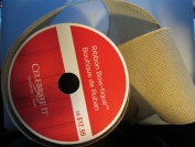 Wired basket weave Kahki Tan Ribbon 10cm . x 7.6m