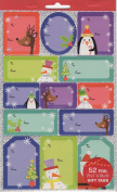 Snowmen Foil Peel 'n Stick Gift Tags