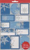 Snowflakes Foil Peel 'n Stick Gift Tags