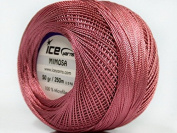Antique Pink Mimosa Size 10 Microfiber Crochet Thread - 50 gramme